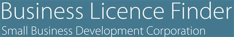 business licence finder business type search