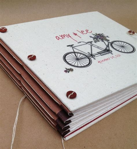 Personalised Handmade Photo Albums - personalized bicycle wedding guest book or photo booth album