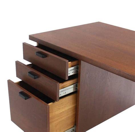 modern desk with file drawers mid century danish modern oiled walnut desk file drawer at