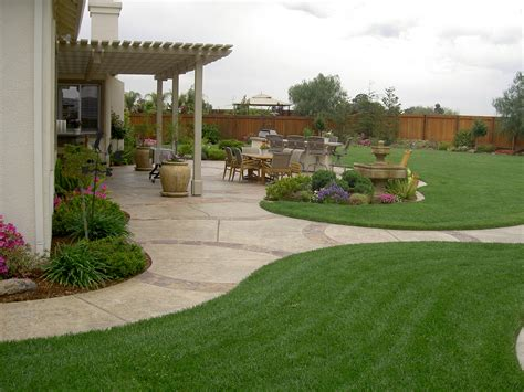 Landscaped Backyard Ideas Backyard Designs Landscaping Photos