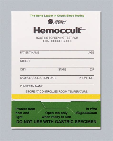 Stool Hemoccults by Hemoccult Slides Developer Tristate Surgical