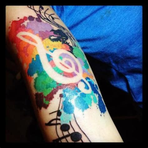 tie dye tattoo they did not make a water color tie dye looking note