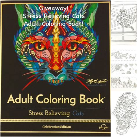 coloring book giveaway giveaway stress relieving cats coloring book the