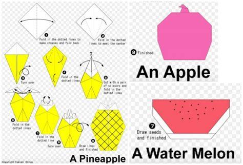 origami fruit take the school breakfast challenge easy origami