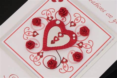 Handmade Ruby Wedding Anniversary Cards - personalised luxury handmade ruby wedding anniversary card
