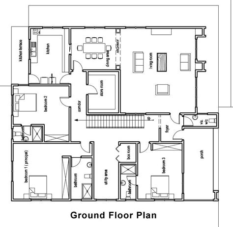 elegant ground floor plan for home home plans design