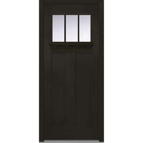 Craftsman Door Dentil Shelf by Milliken Millwork 36 In X 80 In Classic Clear Glass