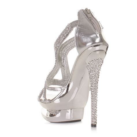 silver prom shoes fashion prom dresses