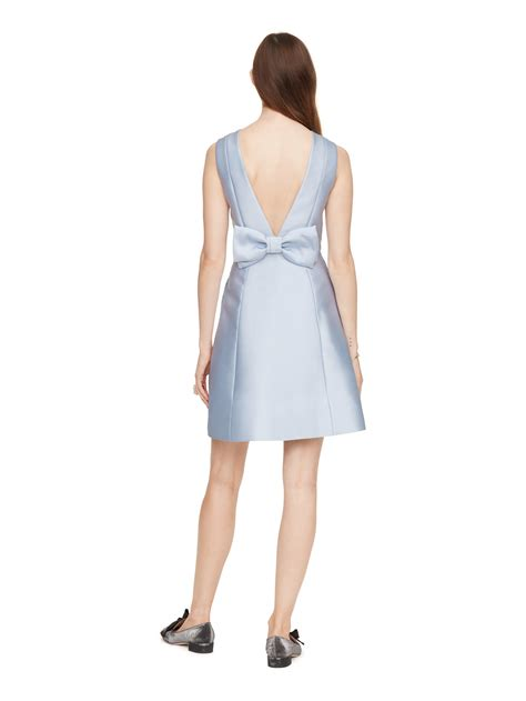 Back Bow Dress lyst kate spade new york open back bow dress in blue