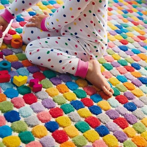 Kid Rugs Cheap Jellybean Rug Wool Jelly Beans And Polka Dots
