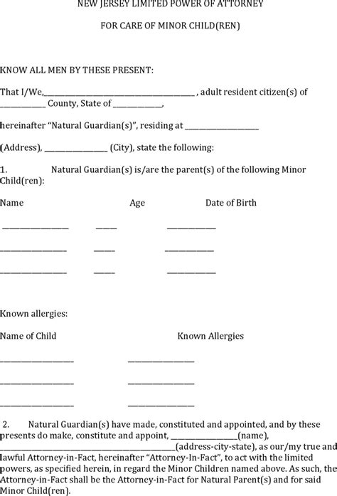Power Of Attorney Template Free Template Download Customize And Print Power Of Attorney Template Nj