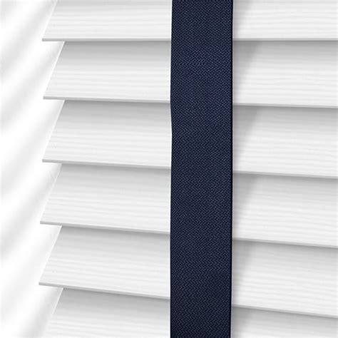 navy and white shades arctic white navy faux wood blind 50mm slat