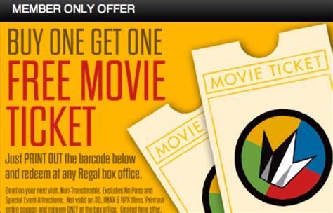 printable movie tickets coupons possible buy one get one free movie ticket at regal theaters