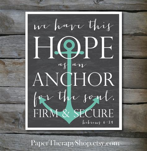 Chalkboard Love And Hope Anchors - hope as an anchor bible verse 8 x10 or 11x14 by