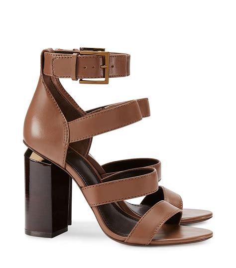 burch high heels lyst burch jones high heel sandal in brown