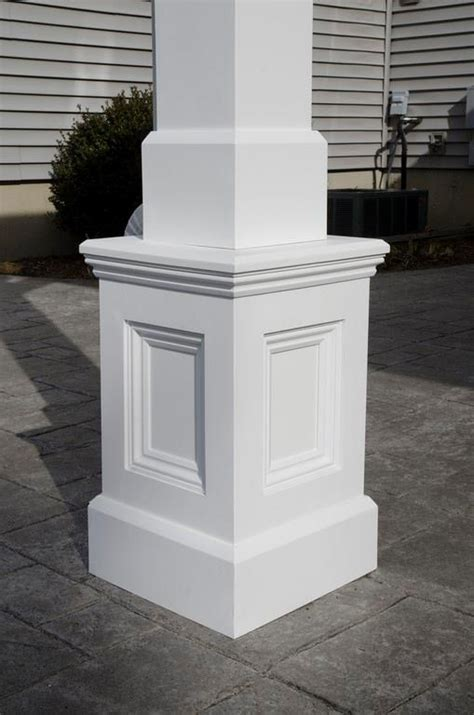 plinth at bottom rather than brick places bricks azek column base design build architecture columns the o jays and squares