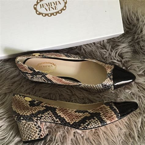 vine shoes jemima vine matilda python court shoes jacquardflower