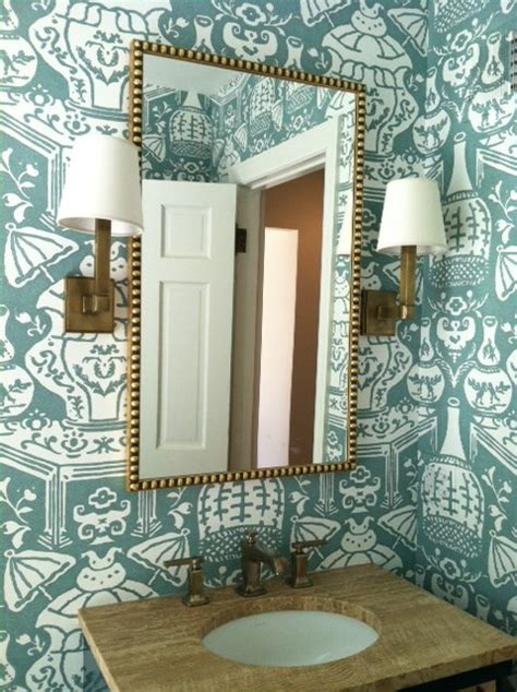 david hicks the vase wallpaper bathroom