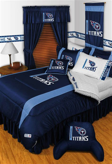 nfl bedroom nfl tennessee titans bedding and room decorations modern