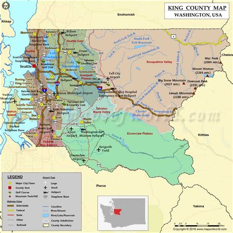 map of washington counties king county map washington