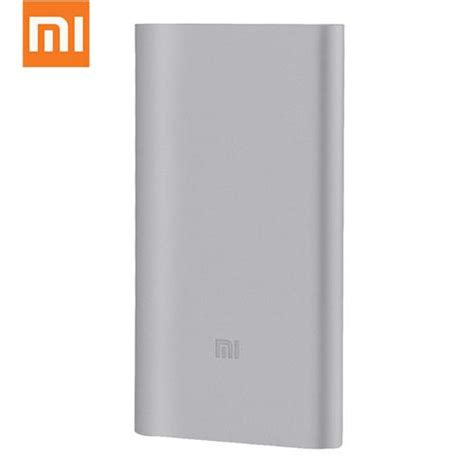 Xiaomi Mi Power Bank 10000mah Silver Original original xiaomi ultra thin 10000mah lithium polymer power