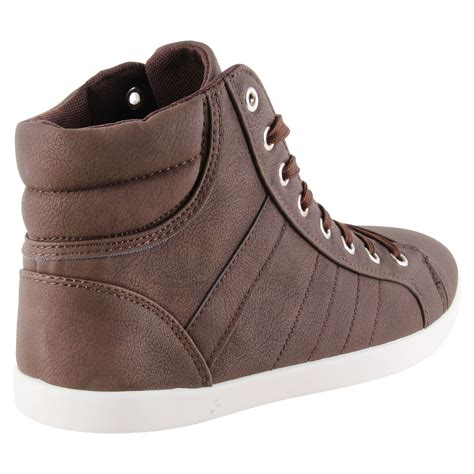 high top designer sneakers new mens designer lace up high hi top fashion trainers
