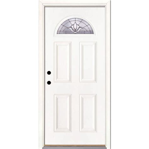 fan doors mahogany fan lite front single door with