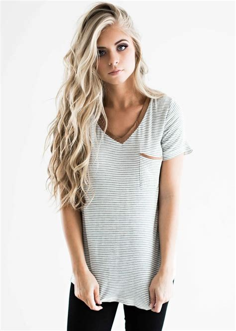 hair color trends 2017 2018 highlights striped tee