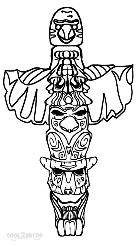 totem pole design template printable totem pole coloring pages for cool2bkids