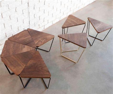 Ideas Design For Triangle Coffee Table Log Triangular Modular Table Fractals