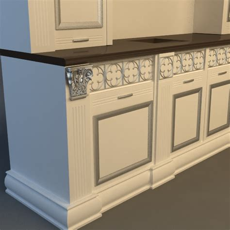 Kitchen Cabinet Models by Kitchen Cabinet 3d Model Max 3ds Fbx Cgtrader Com