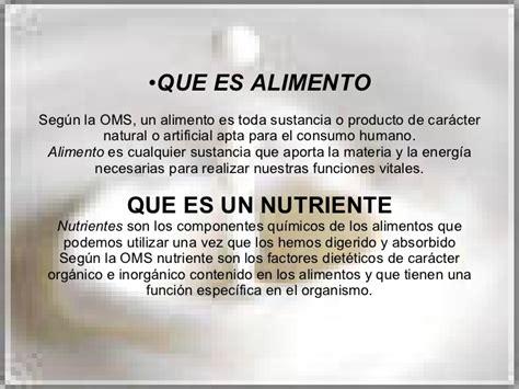 alimentos nutrientes