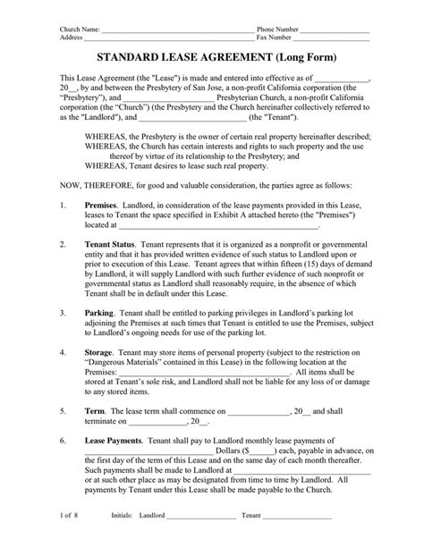 sle parking lease agreement lease agreement in word and pdf formats