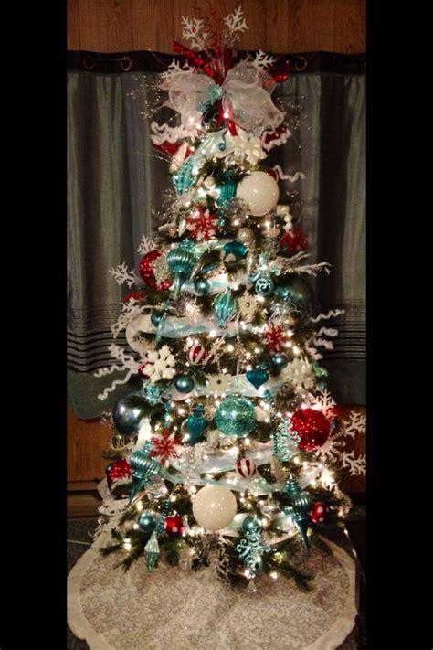 best 25 teal christmas tree ideas on pinterest