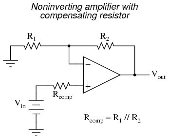 op resistor value op practical considerations operational lifiers electronics textbook