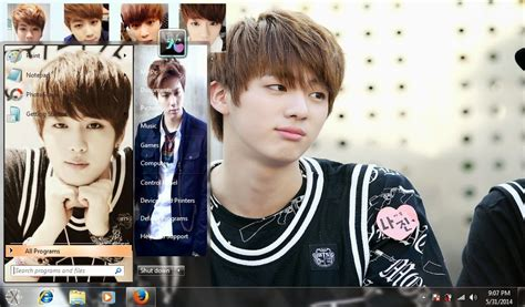 kpop themes for windows 10 my kpop fanatik bts jin windows 7 theme