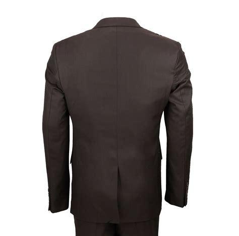 Slim Fit Blazer Dress mens brown 3 suit black leopard rosette print slim