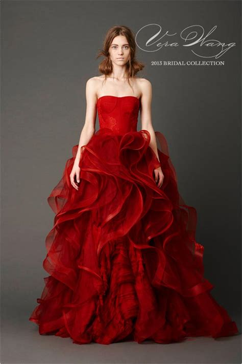 brautkleider rot goes wedding 187 2013 wedding dress by vera wang