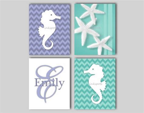 Seahorse Crib Bedding Nautical Nursery Bedding Decor Seahorse Wall Starfish Wall Gi