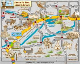 santa fe trail colorado springs map santa fe trail scenic byway map colorado vacation directory