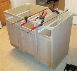 building a kitchen island with cabinets how to make a diy kitchen island and install in your
