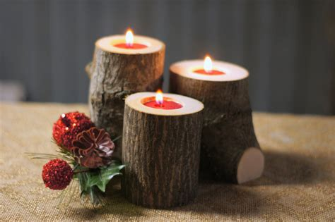 christmas centerpiece tree branch candle holders by