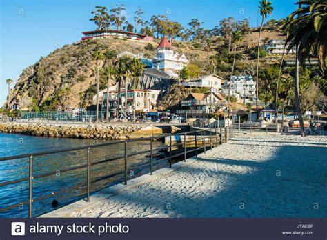 tow boat us city island catalina california stock photos catalina california