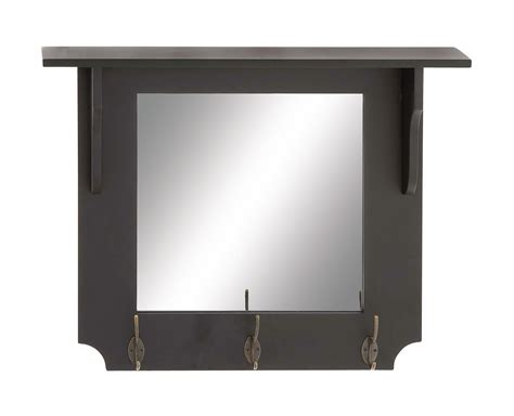 Wall Mirror With Hooks And Shelf by Mirror Wall Shelf With Hooks