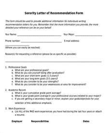 Recommendation Letter For Sorority 7 Sle Sorority Recommendation Letter Free Sle Exle Format