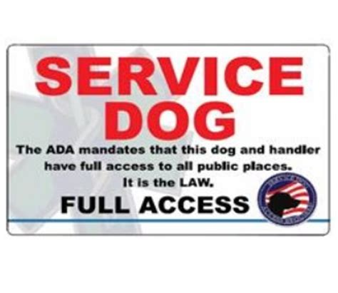 printable service dog id cards service dog full access id card full access