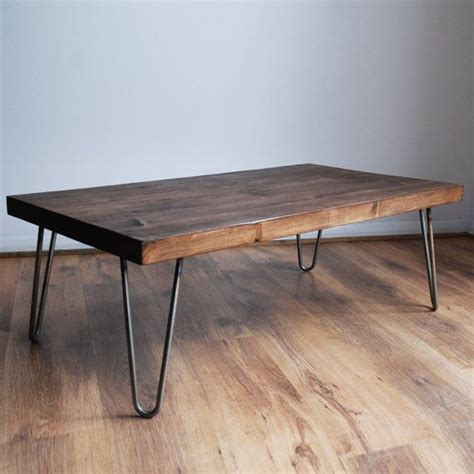 metal coffee table legs rustic vintage industrial solid wood coffee table bare