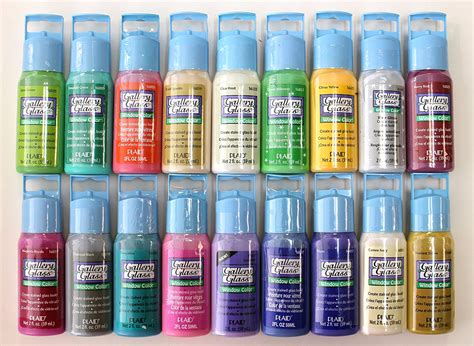 plaid promoggii gallery glass acrylic paint 2 ounce best selling colors ii n ebay