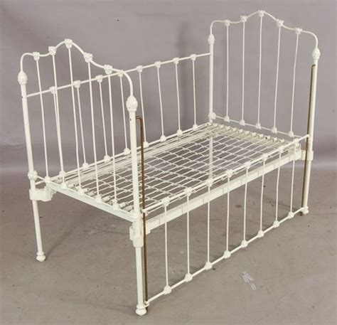 Victorian Baby Cradle 373 Victorian Style Cast Iron Drop Side Baby Crib