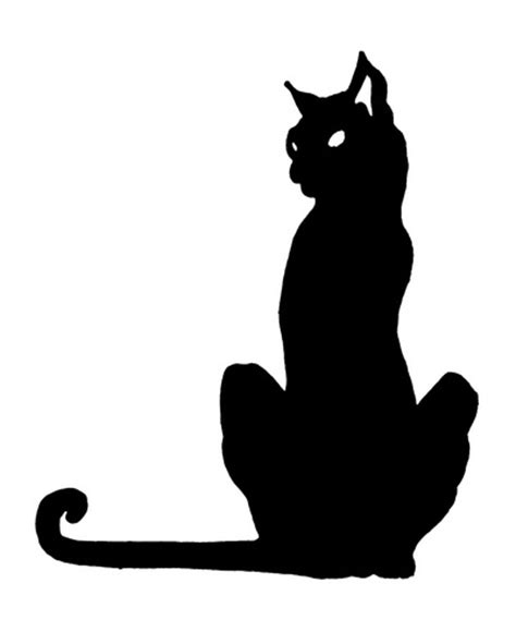 tattoo black cat silhouette creepy wordslush